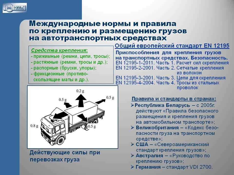 Правила международных грузоперевозок