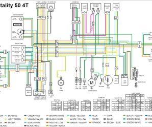 Схема электрооборудования скутера Kymco Vitality 50 4T