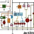 Электрическая схема проводки китайского скутера 4т 125 и 150 cc