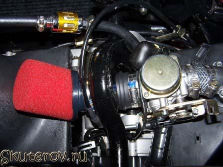 Скутер воздушный фильтр своими руками 143