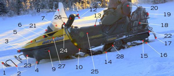 фото устройство снегохода