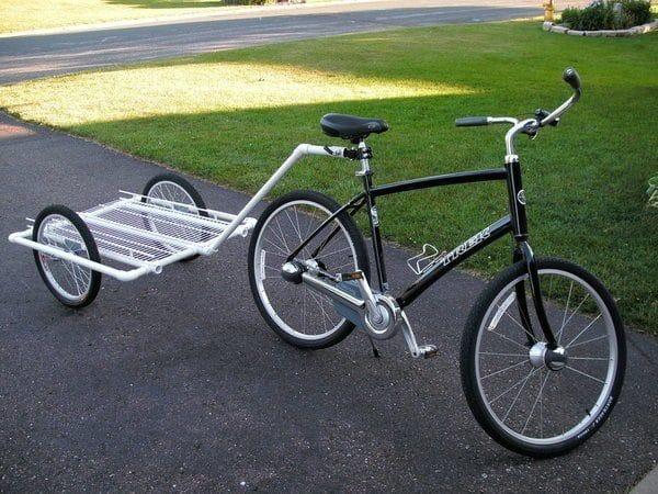 Фото прицепа для велосипеда из металлопластиковых труб