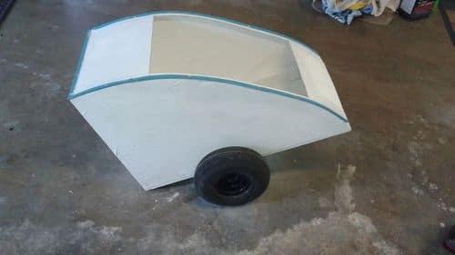 Крепление оси для колес