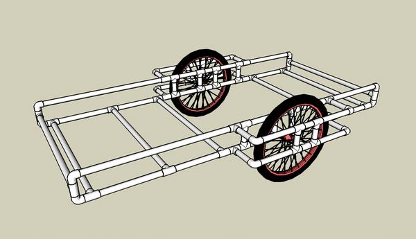 Прототип прицепа из ПВХ труб