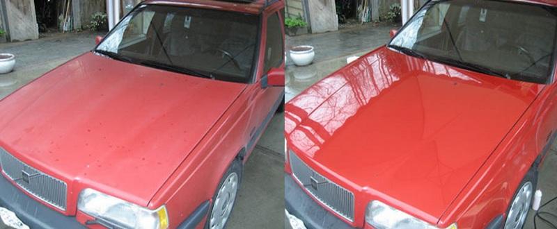 Фото до и после моей Volvo