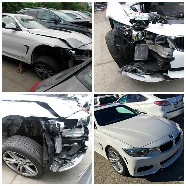 Ремонт машины после аварии фото до и после