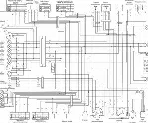 Электрическая схема мотоцикла Futong RF 250 CL (Футонг РФ 250)